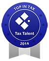 First in Tax Badge