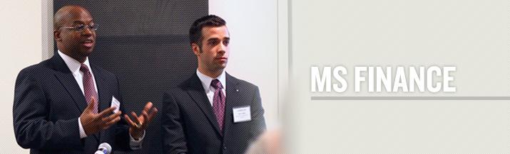 Masters in Finance Degree Program